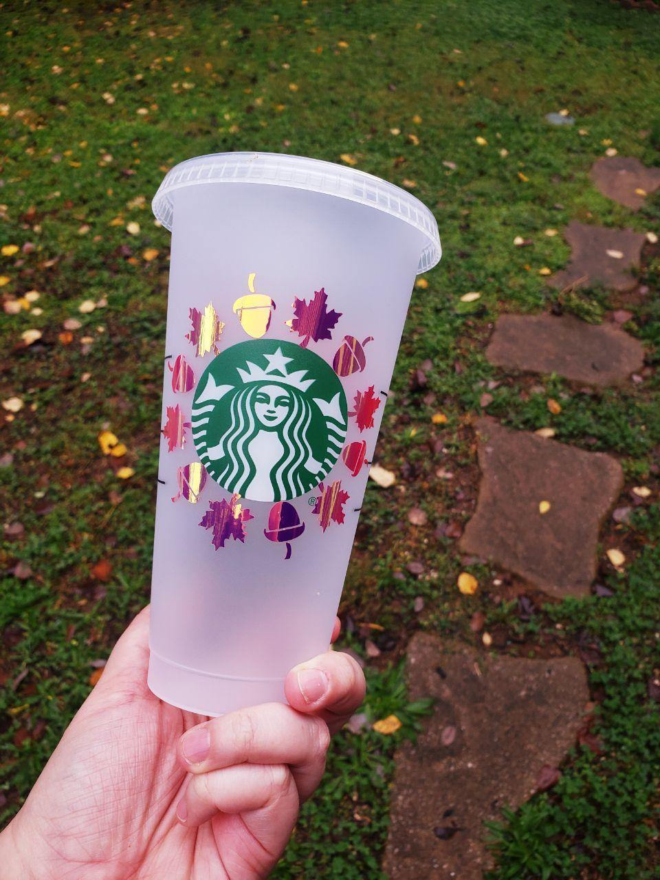 Fall Vibes Cold Cup, Cups, Cups, Customizeable, Halloween/Fall, Limited Edition, Starbucks - Sciggles