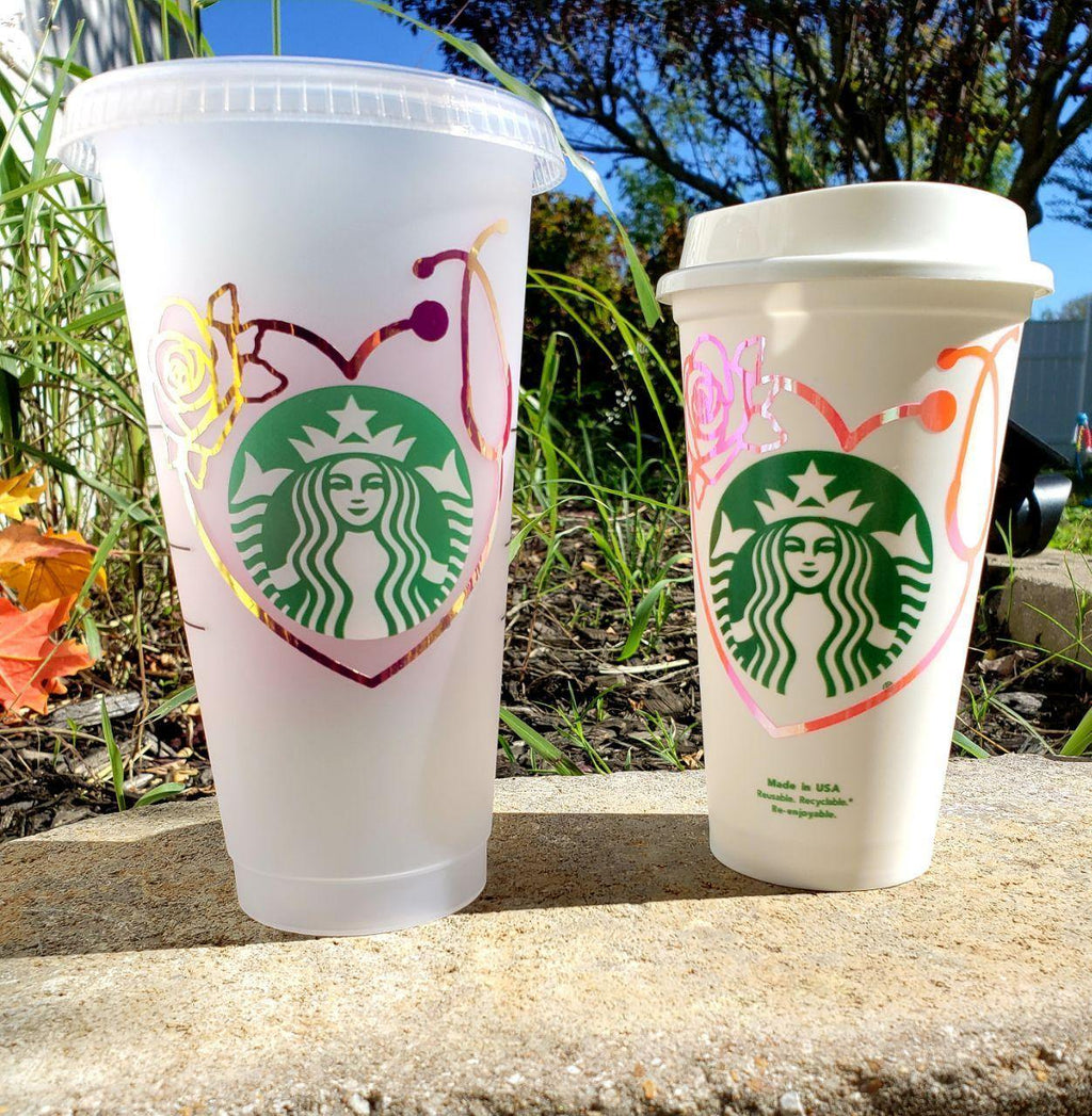 Nurse Love Hot Cup, Cups, Cups, Customizeable, Starbucks - Sciggles