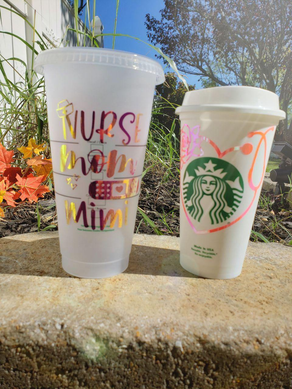 Nurse Love Cold Cup, Cups, Cups, Customizeable, Starbucks - Sciggles