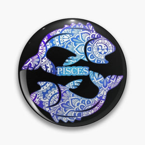 Zodiac Sign Buttons, Buttons - Sciggles