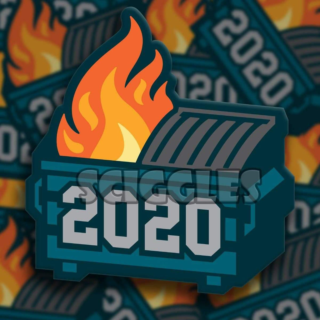 "2020 - Dumpster Fire of a Year 3"" Stickers, Stickers - Sciggles"