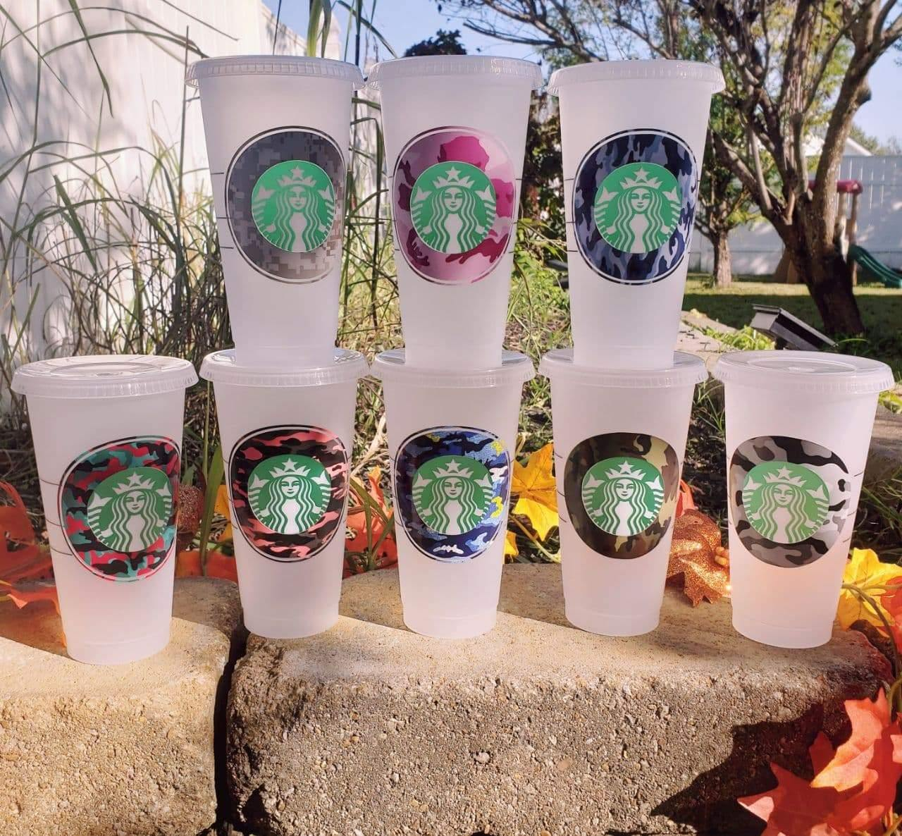 Simple Camo Custom Hot Cup, Cups, Cups, Customizeable, Starbucks - Sciggles