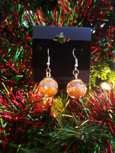 Glass Ball Ornament Earrings, Earrings, Christmas/Holidays, Earrings, Limited Edition, Wearable - Sciggles