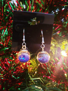 Glass Ball Ornament Earrings, Earrings - Sciggles