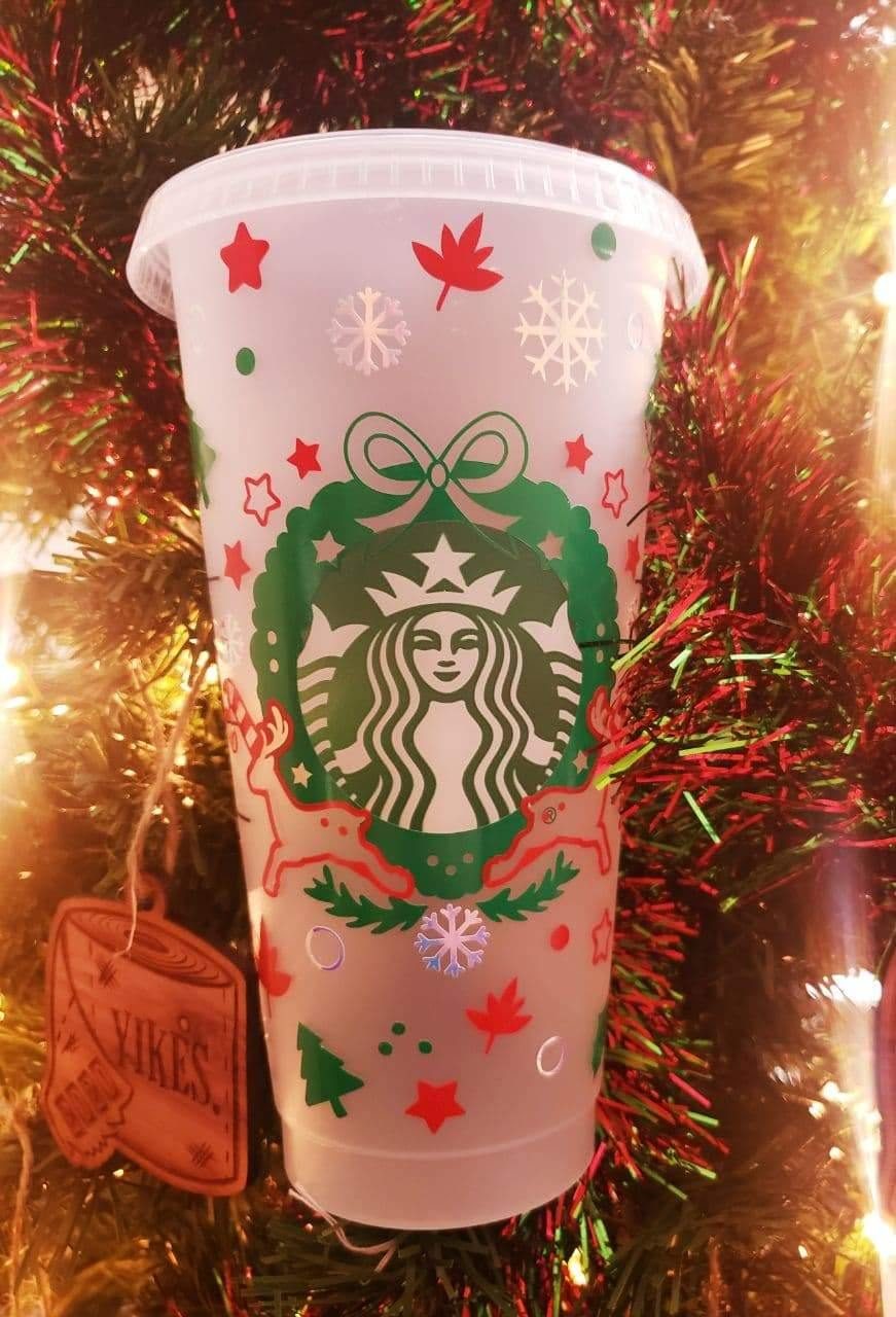 Holiday Cold Cup, Cups, Christmas/Holidays, Cups, Customizeable, Limited Edition, Starbucks - Sciggles