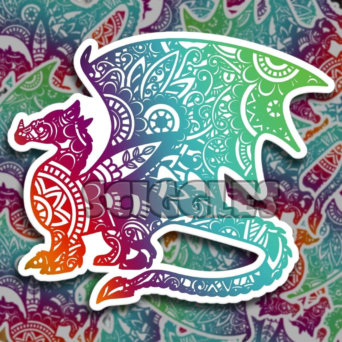 "Dragon 3"" Stickers, Stickers - Sciggles"