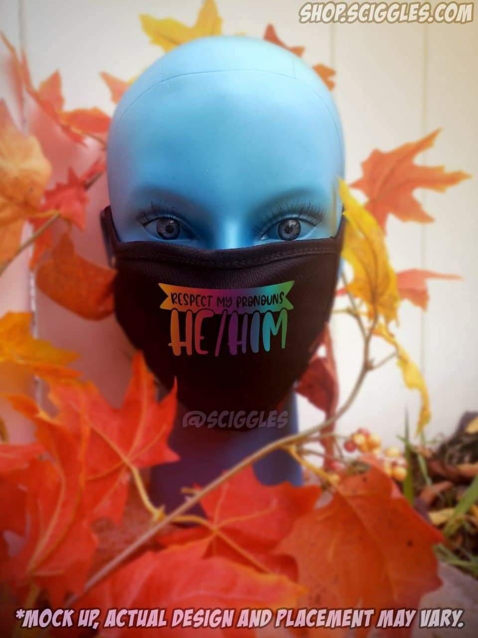 Face Masks - Preferred Pronouns, Face Masks - Sciggles