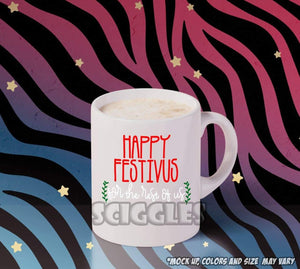 Happy Festivus Coffee Mug, Mugs - Sciggles