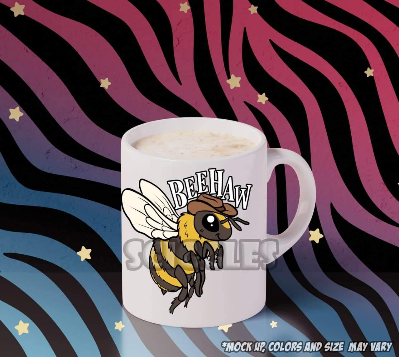 Beehaw! Coffee Mug, Mugs - Sciggles