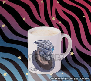 Soft Garrus Sketch Coffee Mug, Mugs - Sciggles