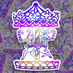 "Mandala Reindeer Carousel 3"" Stickers, Stickers - Sciggles"