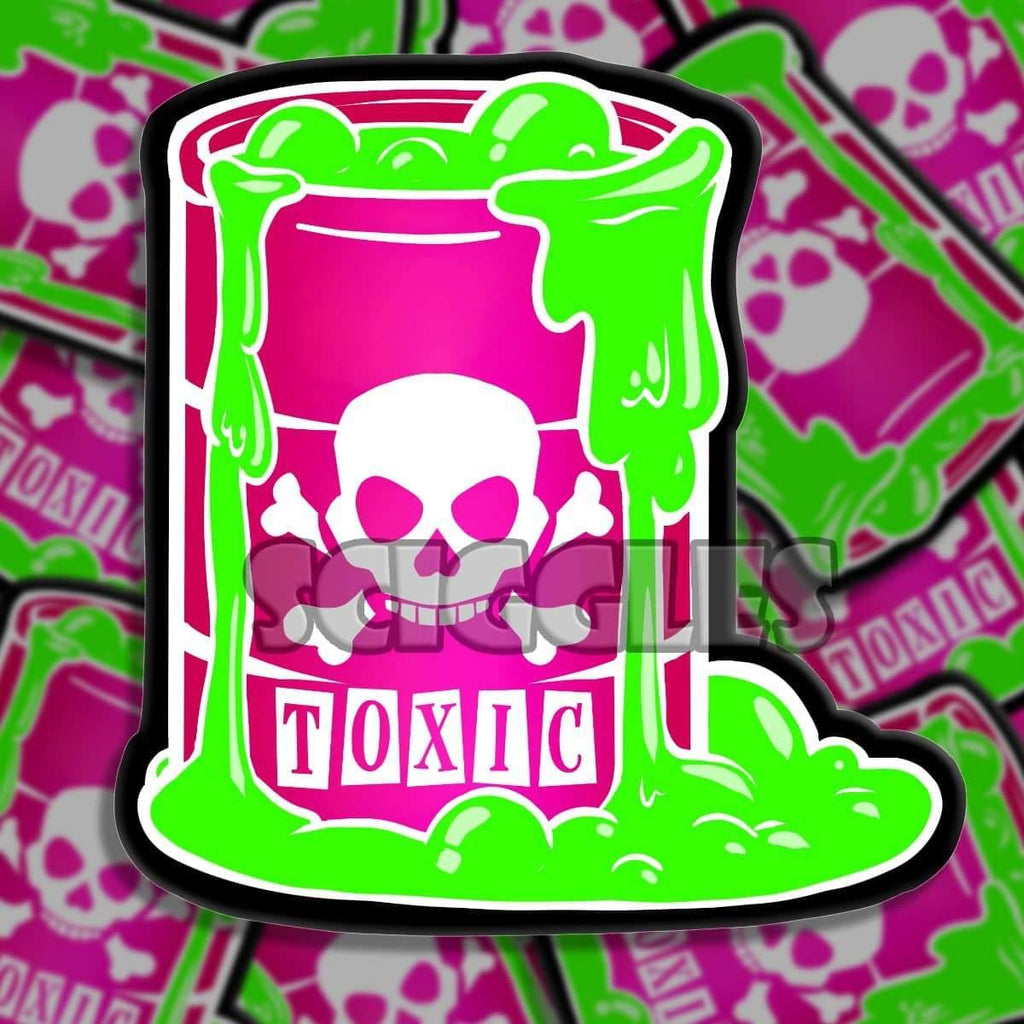 "TOXIC 3"" Stickers, Stickers - Sciggles"