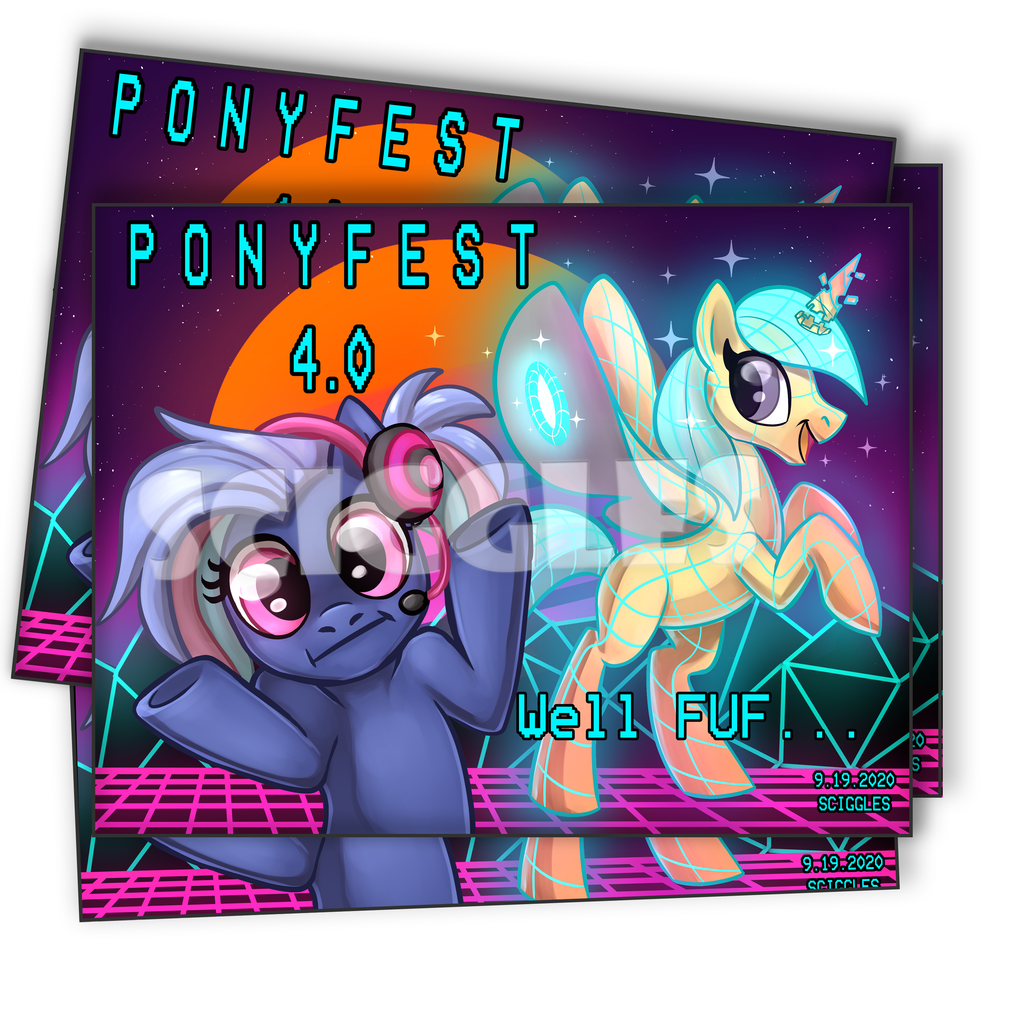 "Pony Prints - 8.5""x11"" - PonyFest Online, Prints, 8.5x11, Convention Exclusive, Limited Edition, Pony, Prints - Sciggles"