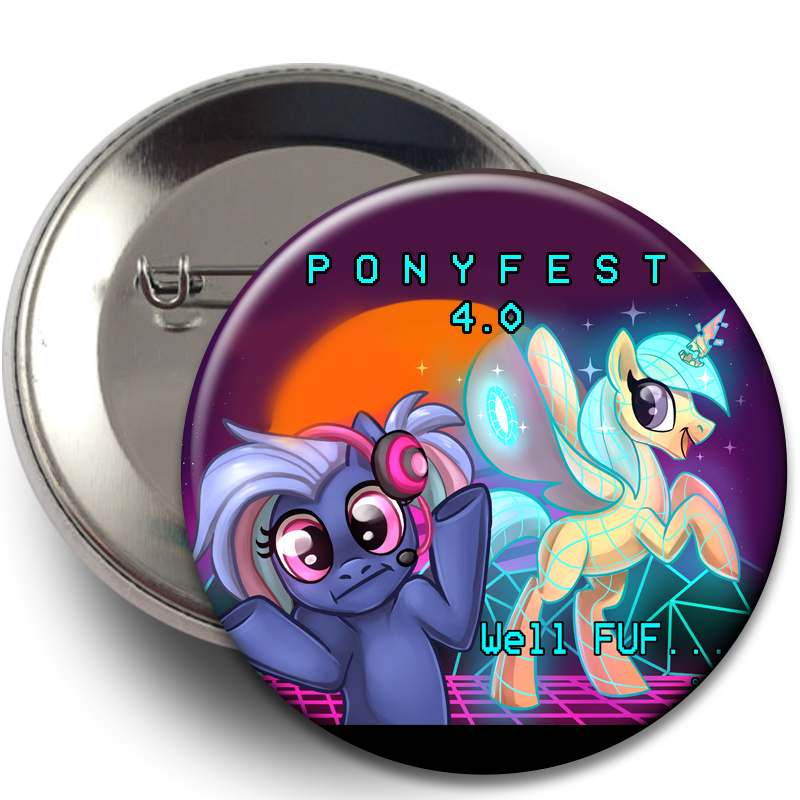 Pony Buttons - PonyFest Online, Buttons, Buttons, Convention Exclusive, Limited Edition, Pony - Sciggles
