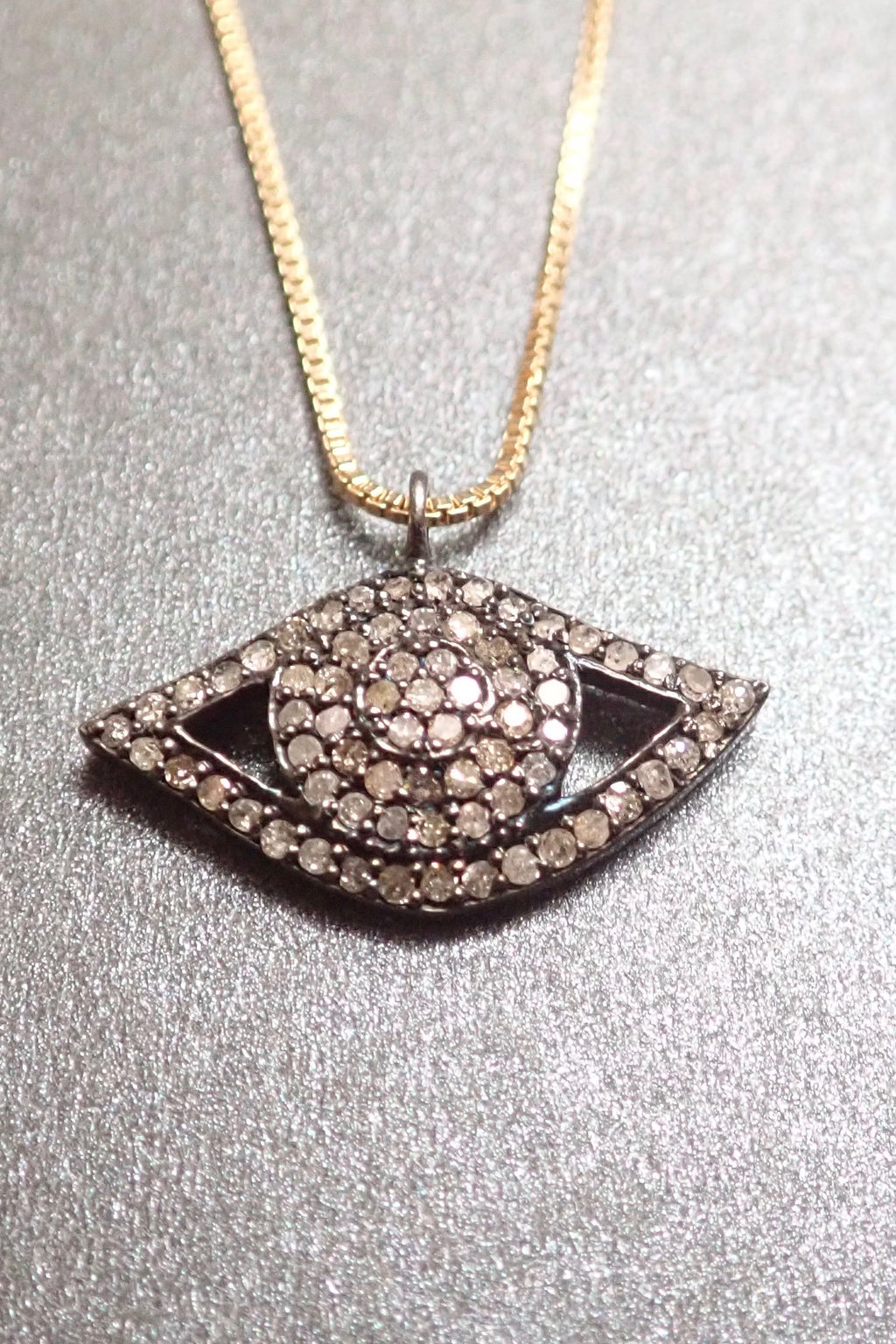DIAMONDS DEVIL EYE PENDANT