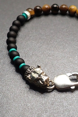 MATE ONYX & TIGER EYES BRACELET
