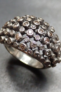 DOME CHAMPAGE DIAMONDS RING