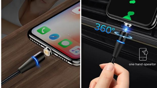 ArgonTechs™- Universal Magnetic Charging Cable- 3A- Data Transfer