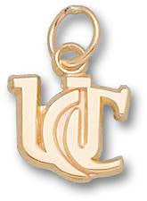 UC022-14ky Yellow Gold - UNIV OF CINCINNATI NEW UC 3/8 INCH - Lannan Jewelry