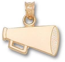 GS001 - FLAT MEGAPHONE 14k YELLOW GOLD PENDANT. - Lannan Jewelry