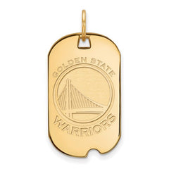 10ky Yellow Gold Golden State Warriors Small Dog Tag - Lannan Jewelry