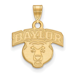 10ky Yellow Gold Baylor University Small Pendant - Lannan Jewelry