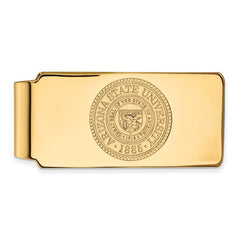 10ky Yellow Gold Arizona State University Money Clip Crest - Lannan Jewelry