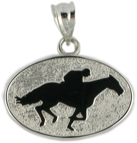 RACE HORSE AND JOCKY IN DISC - Lannan Jewelry