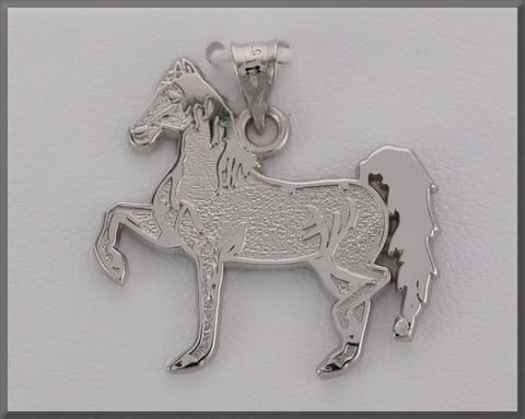 HORSE JEWELRY FANCY STEPPING HORSE PENDANT - Lannan Jewelry