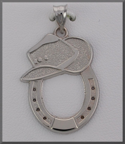 HORSE JEWELRY COWBOY HAT AND HORSE SHOE - Lannan Jewelry