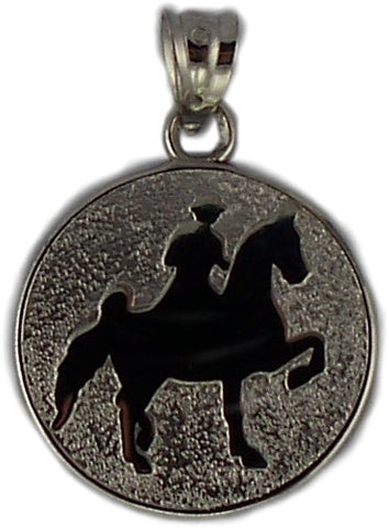 WALKER AND RIDER IN DISC - Lannan Jewelry