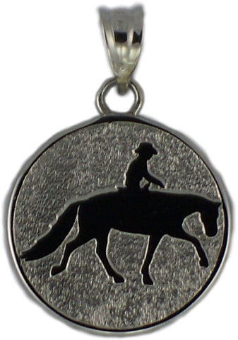WESTERN PLEASURE RIDER IN DISC - Lannan Jewelry