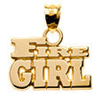 Fire Girl Block Letters - Lannan Jewelry