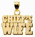 CHIEF'S WIFE BLOCK LETTERS - Lannan Jewelry