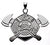 MALTESE CRO.925 Sterling Silver WITH AXES FIREFIGHTER JEWELRY PENDANT - Lannan Jewelry