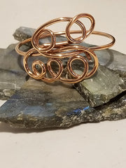 Straws copper cuff bracelet. - Lannan Jewelry