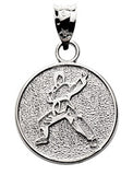 Martial arts man in circle ready stance - Lannan Jewelry