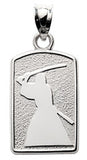 SWORD FIGHTER SIHOUETTE PENDANT - Lannan Jewelry