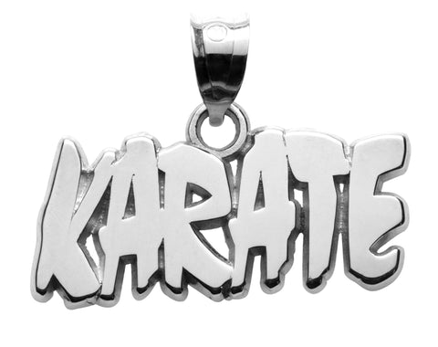 KARATE SOLID LETTERS PENDANT - Lannan Jewelry
