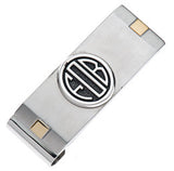 GENTS 3 INITIAL MONOGRAM STAINLE.925 Sterling Silver MONEYCLIP - Lannan Jewelry