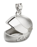 DALE EARNHARDT JR. HELMET WITH DRIVER NUMBER AND SIGNATURE STAINLESS STEEL PENDANT - Lannan Jewelry