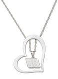 DALE EARNHARDT JR. HEART NECKLACE WITH 88 DANGLE STAINLESS STEEL - Lannan Jewelry