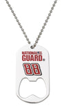 DOG TAG BOTTLE OPENER DALE EARNHARDT JR. WITH CHAIN - Lannan Jewelry
