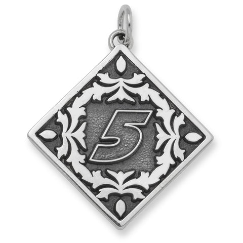 KASEY KAHNE STAINLESS STEEL BALI TYPE PENDANT WITH FLORAL PATTERN - Lannan Jewelry