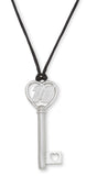 DENNY HAMLIN LARGE STAINLESS STEEL HEART KEY NUMBER 11 - Lannan Jewelry