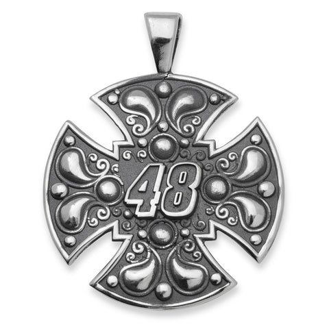 JIMMIE JOHNSON LARGE STAINLESS STEEL MALTESE CROSS FOR MEN - Lannan Jewelry