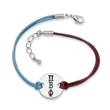 PI BETA PHI DISC BRACELET MAROON AND BLUE - Lannan Jewelry