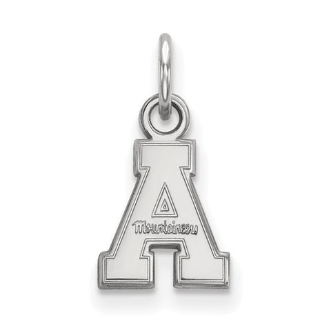10kw White Gold Appalachian State University XS Pendant