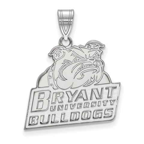 10kw White Gold Bryant University Large Pendant