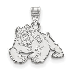 10kw White Gold California State University, Fresno Small Pendant - Lannan Jewelry